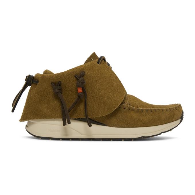Visvim Tan Suede FBT Moccasin Sneakers
