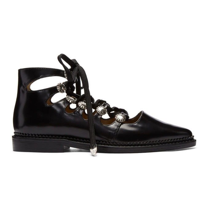Image of Toga Pulla Black Lace-Up Oxfords