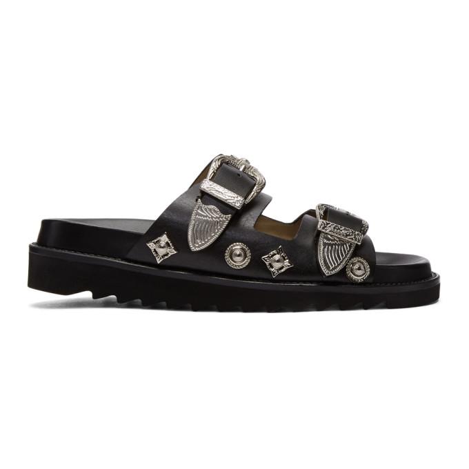 Image of Toga Pulla Black Charm Sandals