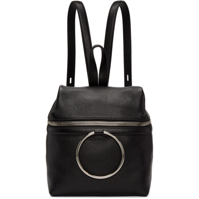 Kara Black Small Ring Backpack