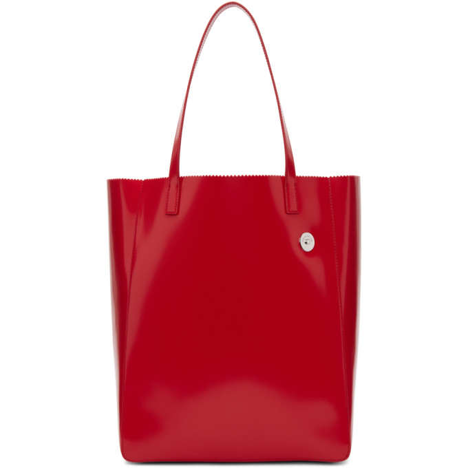 Kara Red Pinch Tote