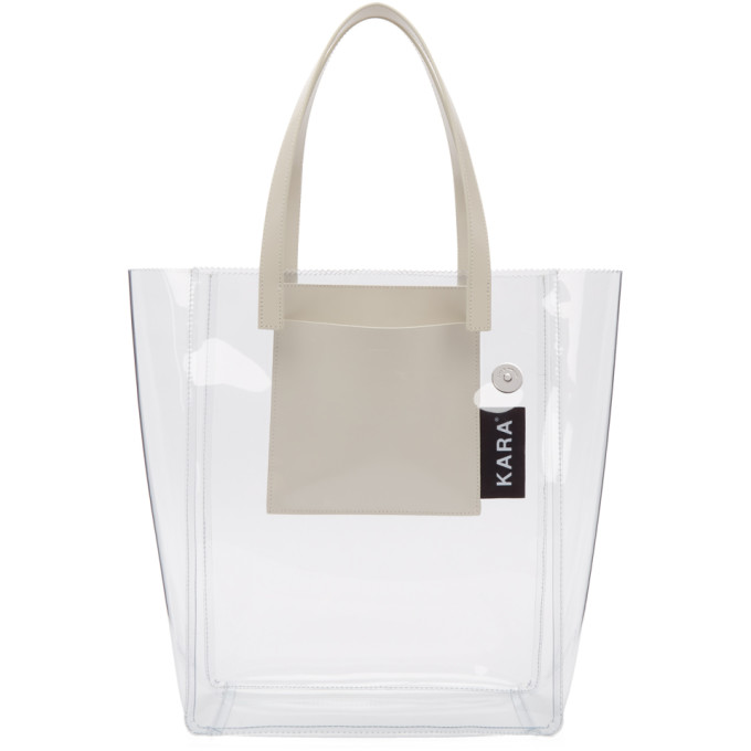 Kara Transparent PVC Pinch Tote