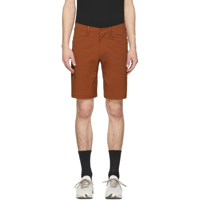 Image of Arc'teryx Veilance Orange Voronol Shorts