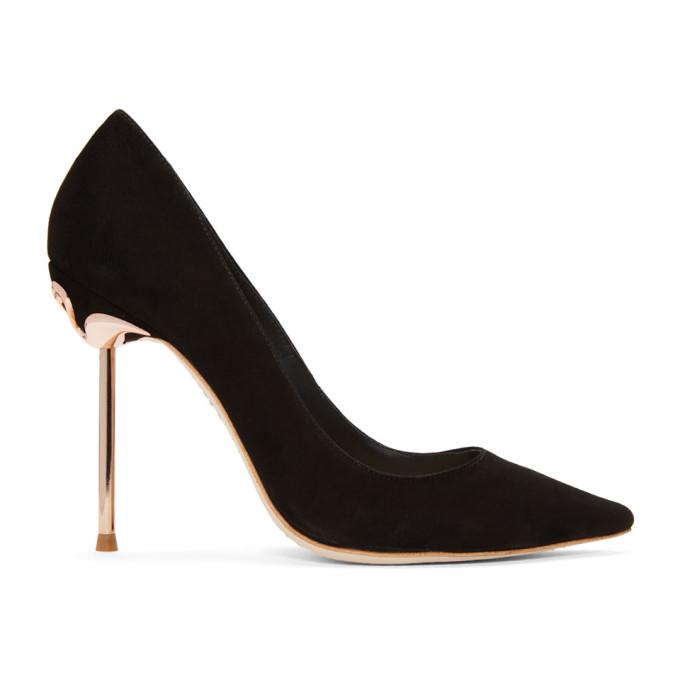 Image of Sophia Webster Black Suede Coco Flamingo Heels