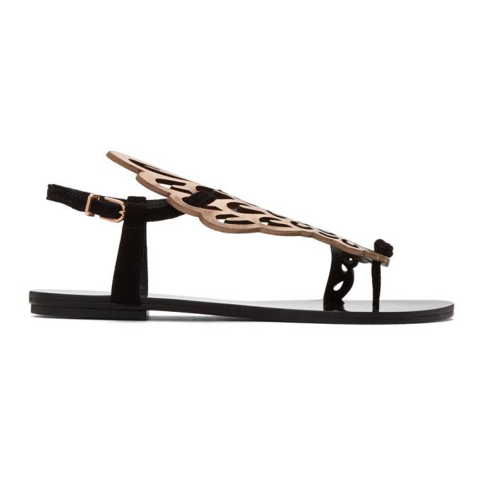 Image of Sophia Webster Black & Rose Gold Seraphina Sandals