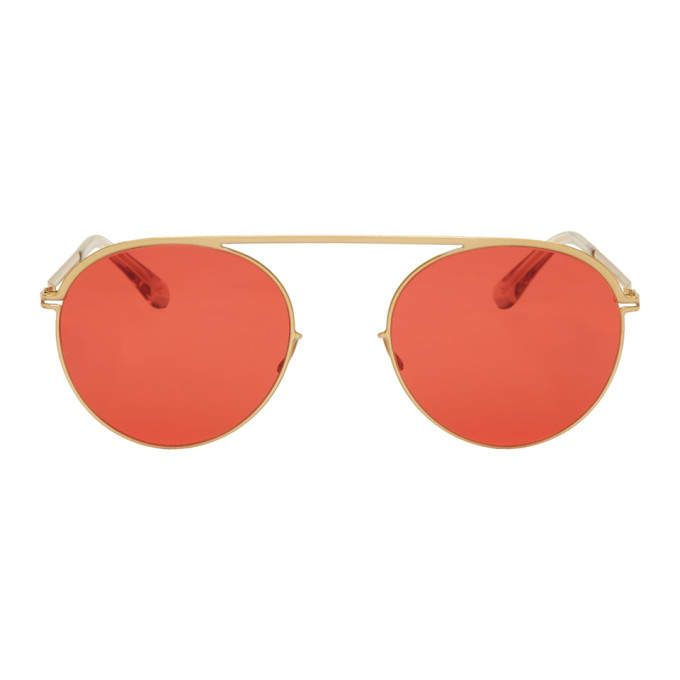 Image of Mykita Gold & Red Studio5.1 Sunglasses