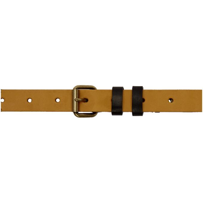 Image of Kolor Black Studded Belt