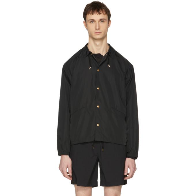 Kolor Black Nylon Coach Jacket