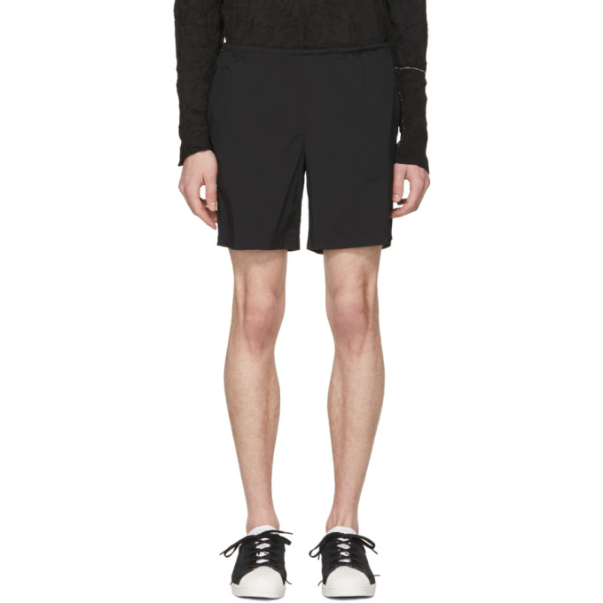 Kolor Black Nylon Drawstring Shorts