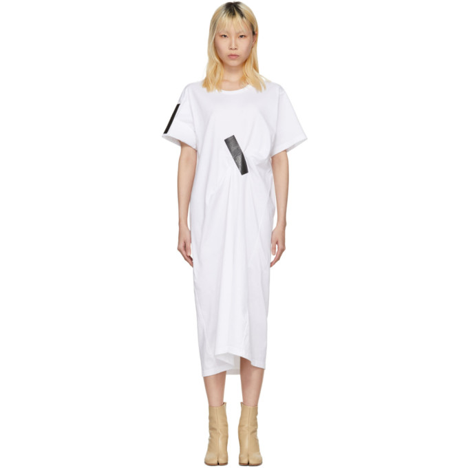 Facetasm White & Black Tape T-Shirt Dress