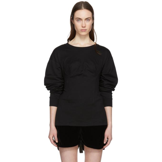 Image of Facetasm Black Long Sleeve Underwire T-Shirt