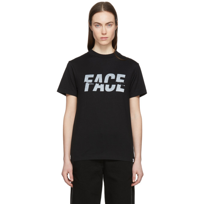 Facetasm Black Split Logo T-Shirt