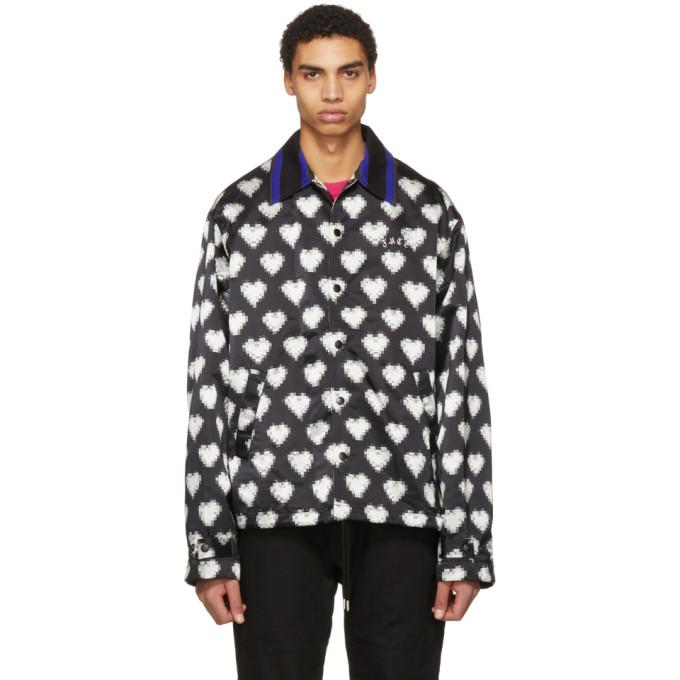 Image of Facetasm Black & White Heart Jacket