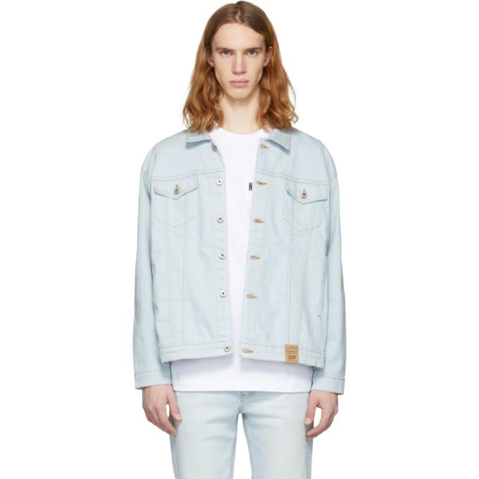 Image of Naked & Famous Denim Blue Oversized Denim Jacket