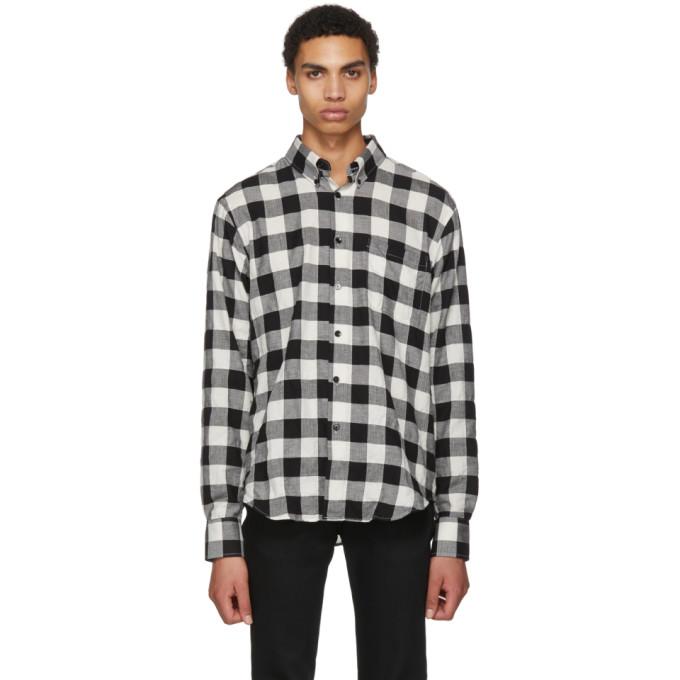 Image of Naked & Famous Denim Black & White Buffalo Check Lightweight Shirt