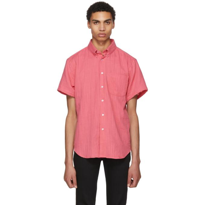 Image of Naked & Famous Denim Pink Double Weave Gauze Shirt