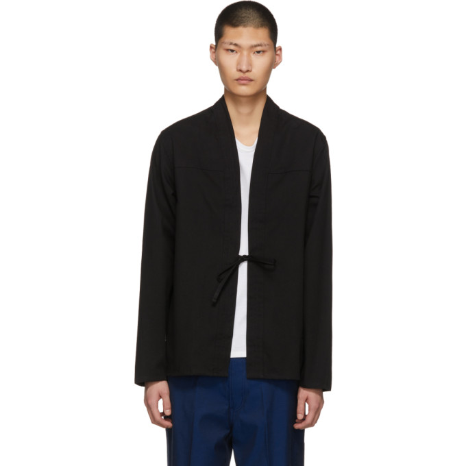 Image of Naked & Famous Denim SSENSE Exclusive Black Kimono Shirt