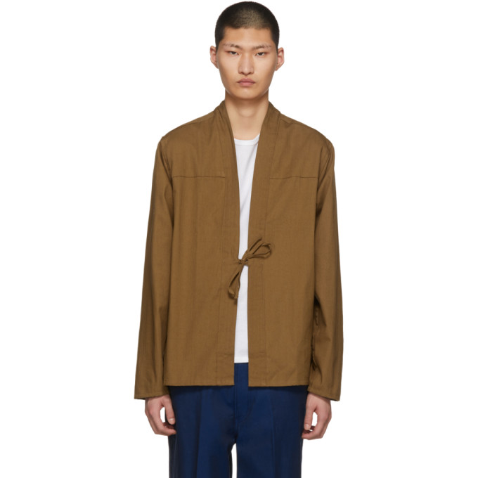 Image of Naked & Famous Denim SSENSE Exclusive Tan Kimono Shirt