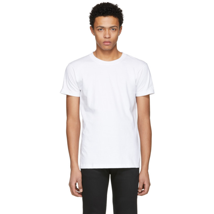 Image of Naked & Famous Denim White Ring Spun T-Shirt