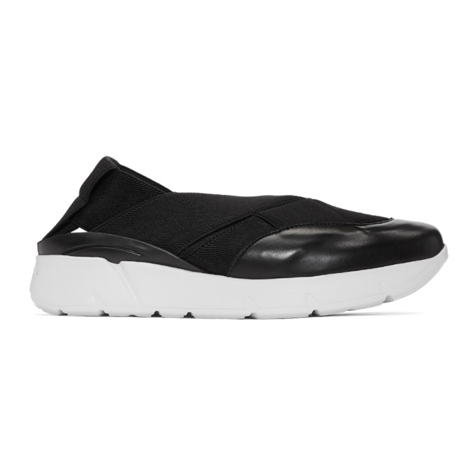 Image of Clergerie Black Relastic Sneakers
