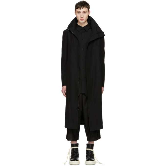 Image of D.Gnak by Kang.D Black High Collar Coat
