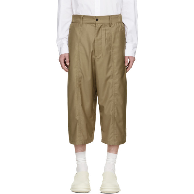 Image of D.Gnak by Kang.D Beige Side Long Shorts