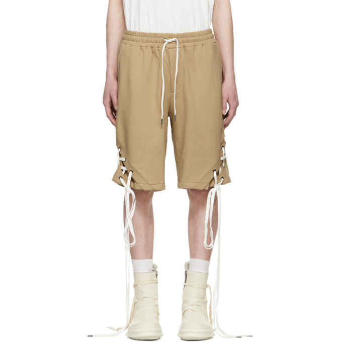 Image of D.Gnak by Kang.D Beige String Shorts