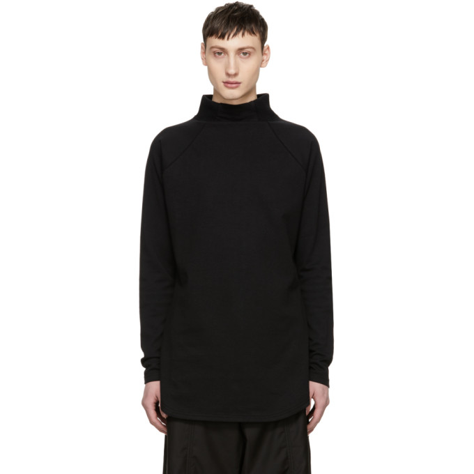 Image of D.Gnak by Kang.D Black High Stand Raglan Turtleneck