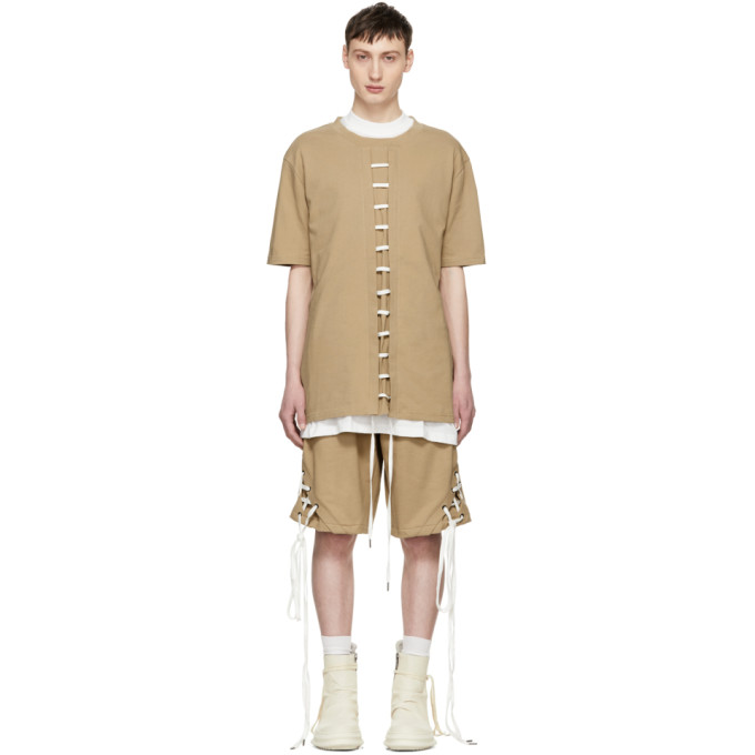 Image of D.Gnak by Kang.D Beige Straight String T-Shirt