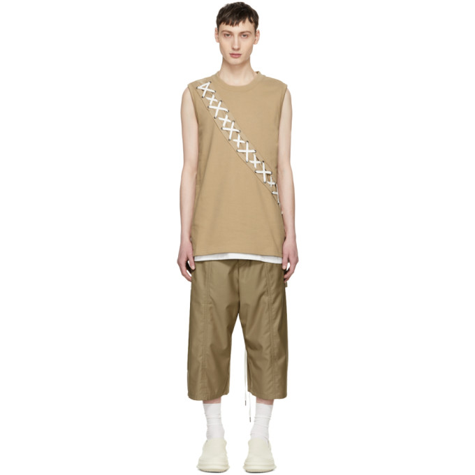Image of D.Gnak by Kang.D Beige X-String Tank Top