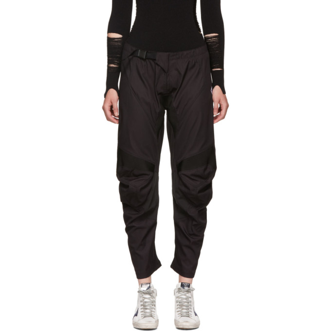 Image of Marcelo Burlon County of Milan Black Biker Lounge Pants