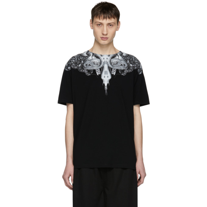 Image of Marcelo Burlon County of Milan Black Animal Wing T-Shirt