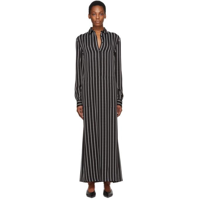 Haider Ackermann Black & White Stripe Morganite Dress