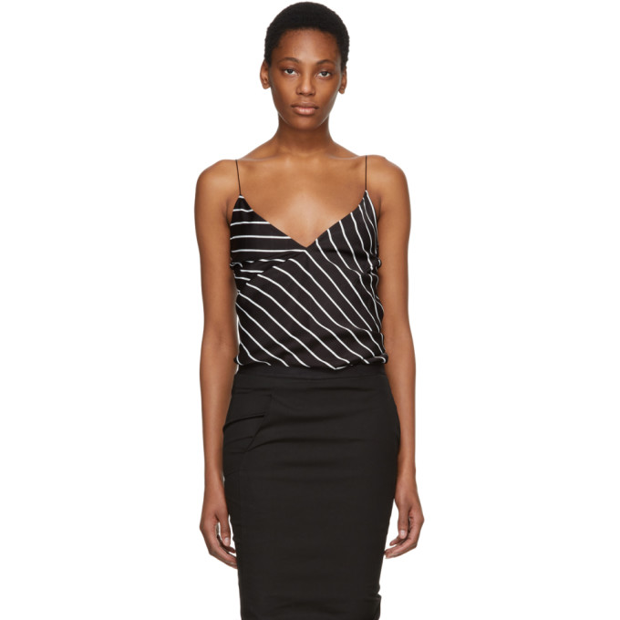 Haider Ackermann Black & White Striped Camisole