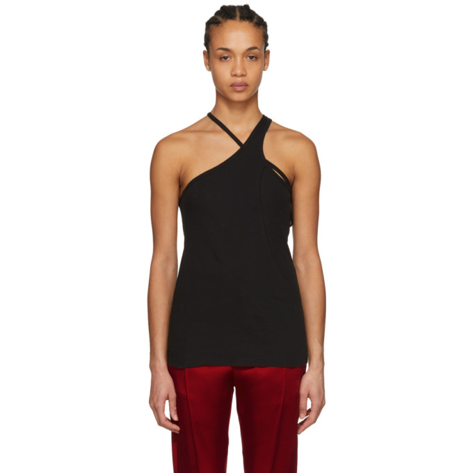 Image of Haider Ackermann Black Cut-Out Tank Top