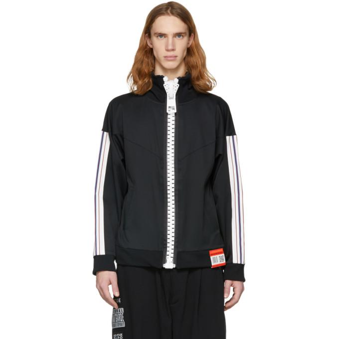 Image of Miharayasuhiro Black Enlarged Zip Track Jacket