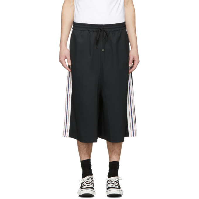 Image of Miharayasuhiro Black Line Tape Skirt Trousers