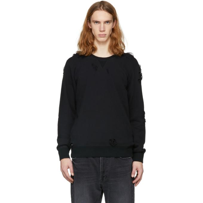 Image of Miharayasuhiro Black Damaged Sweatshirt