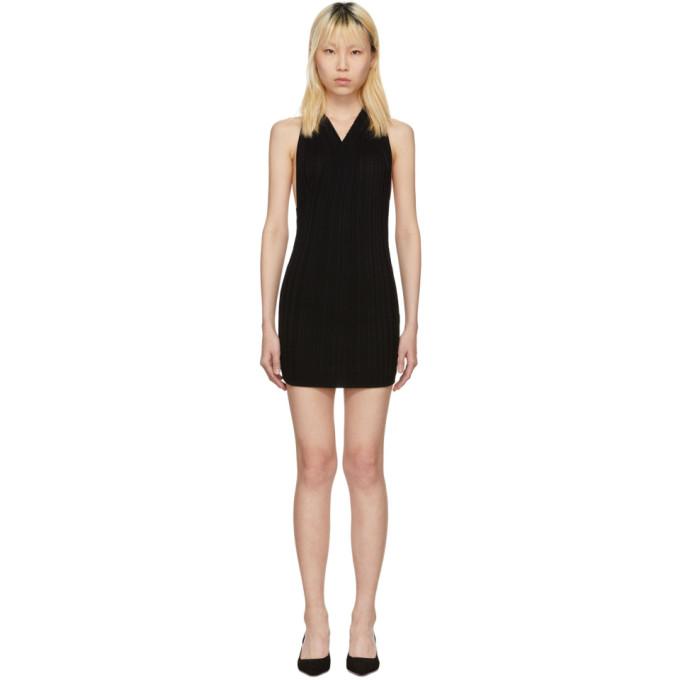 Image of Jacquemus Black 'La Maille Drapeado Longue' Dress