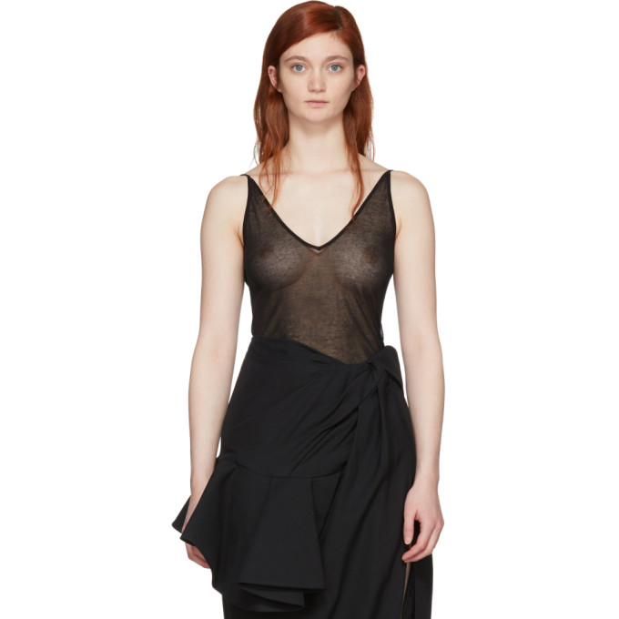 Jacquemus Black La Maille Sperone Tank Top