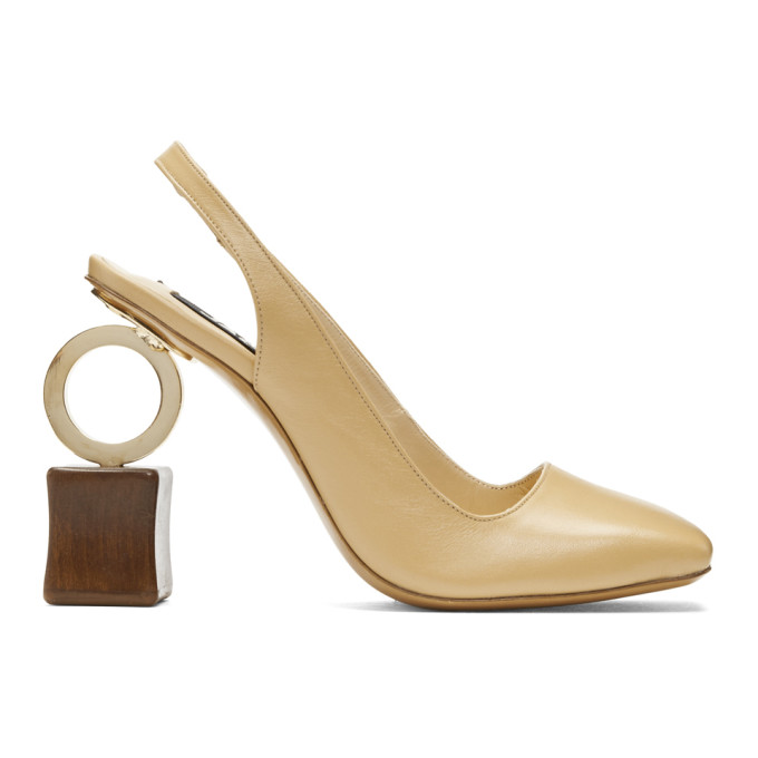 Jacquemus Beige 'Les Chaussures Conga' Heels