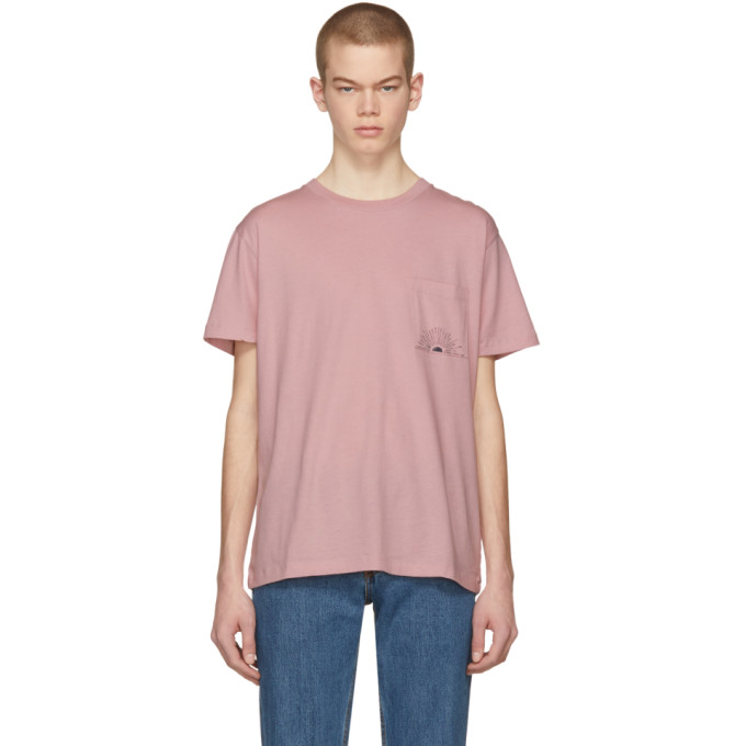 Image of Levi's Made & Crafted Pink Sun Pocket T-Shirt