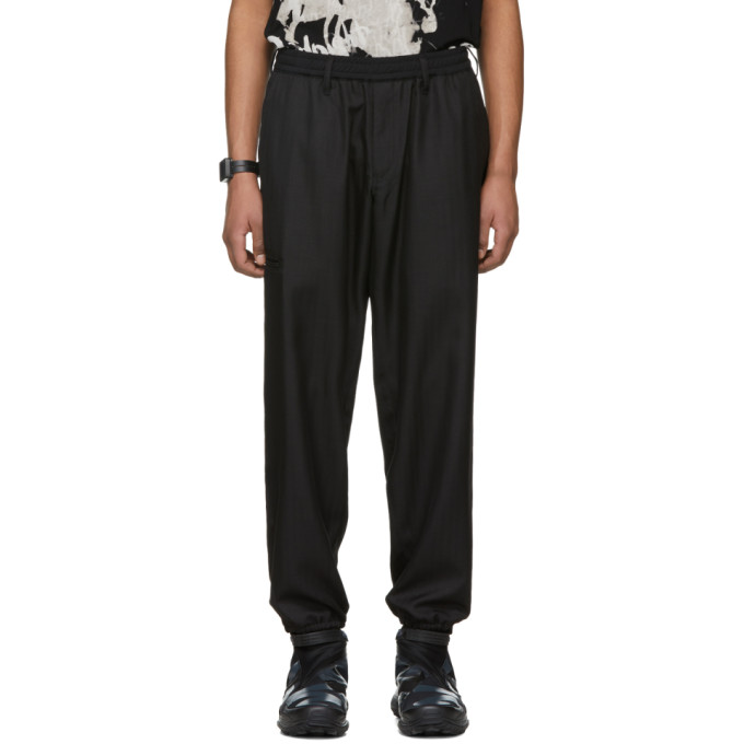 Image of Yohji Yamamoto Black Plastic Cord Lounge Pants