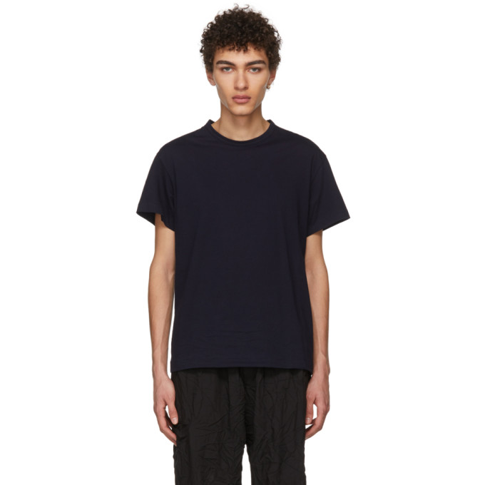Image of Yohji Yamamoto SSENSE Exclusive Navy Address T-Shirt