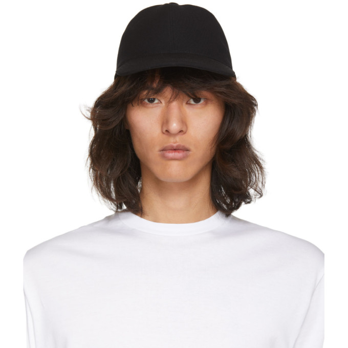 Image of Christian Dada Black Wool Lace-Up Cap