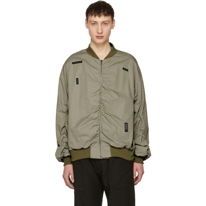 Image of Lad Musician Beige Twill MA-1 Bomber Jacket