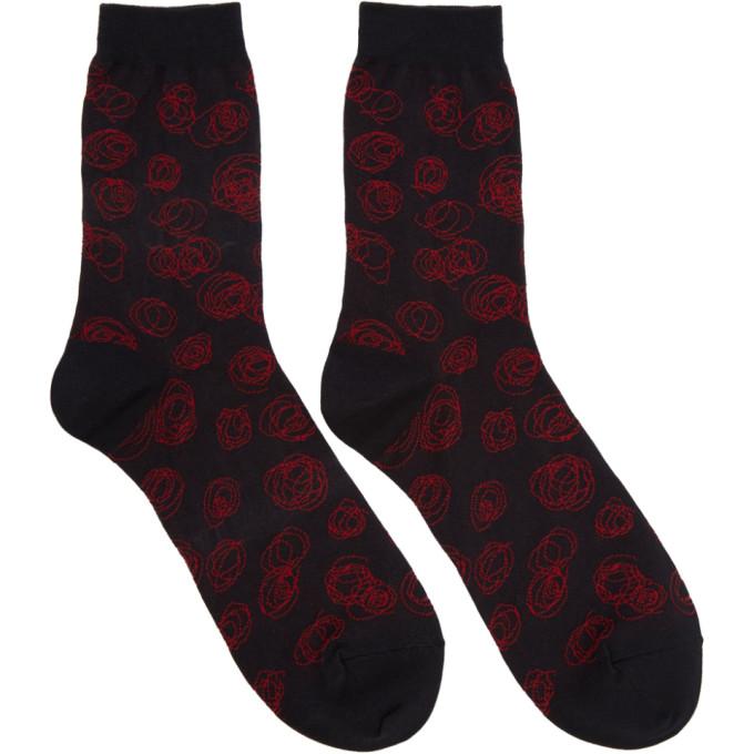 Image of Lad Musician Black & Red Socks