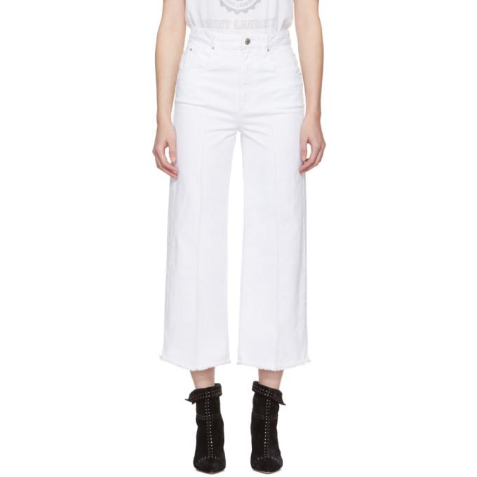 Isabel Marant Etoile White Cabrio Wide-Leg Jeans