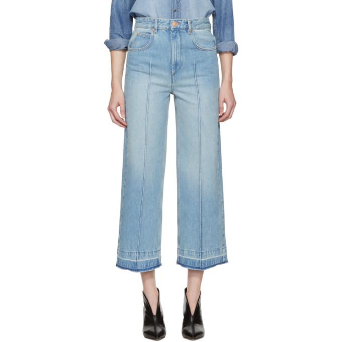 Isabel Marant Etoile Blue Cabrio Wide-Leg Jeans