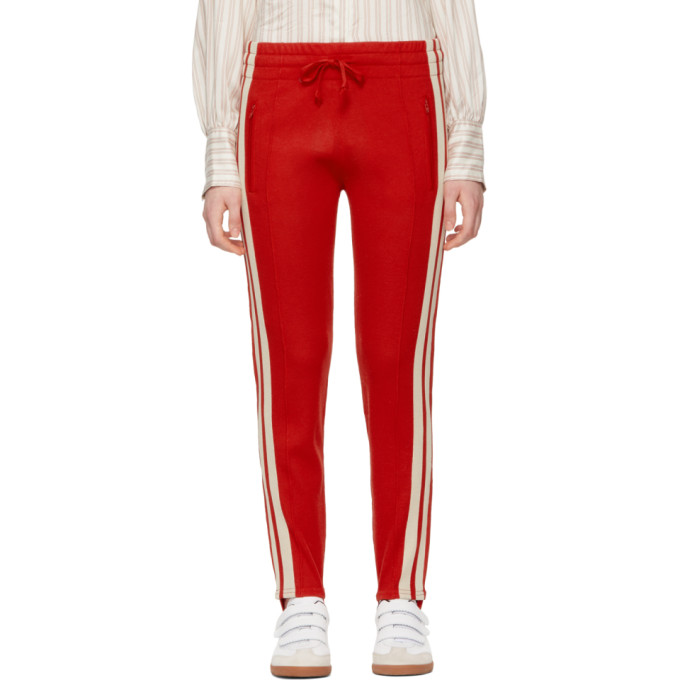 Isabel Marant Etoile Red Doriann Stirrup Lounge Pants